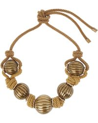 Lanvin - - Gold-tone And Cord Necklace - Yellow - Lyst