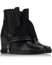 Casadei Ankle Boots black - Lyst