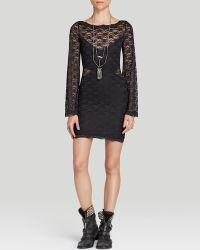 Free People Dress Lovely in Lace Bodycon - Lyst