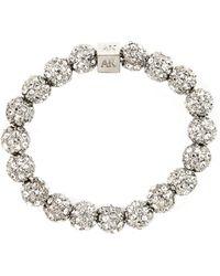 Anne Klein - Silver-plated Crystal Fireball Stretch Bracelet - Lyst