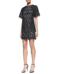 Erdem Aliya Trapeze Floral Lace Dress - Lyst