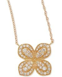 Jamie Wolf - Rose Gold Pavé Scalloped Flower Necklace With Diamonds - Lyst