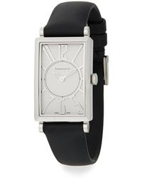 Tiffany & Co. - Gallery Stainless Steel Leather Strap Watch - Lyst
