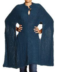 Manila Grace Sweater Cape Polo Neck - Lyst