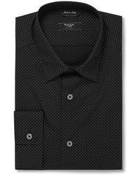 Paul Smith Black and White Byard Pin-dot Cotton Shirt - Lyst