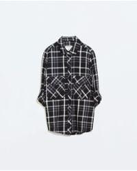 Zara Checked Shirt - Lyst