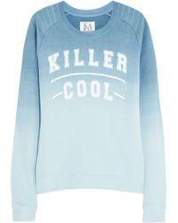 Zoe Karssen Killer Cool Dãgradã Cotton-blend Jersey Sweatshirt - Lyst