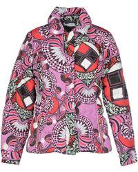 Versace Multicolor Down Jacket - Lyst