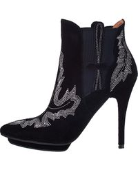 Jeffrey Campbell Real Ankle Boot Black Suede - Lyst