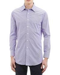 Barneys New York Micro-check Dress Shirt - Lyst