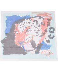 Alexander McQueen Leopard Print Scarf - Lyst