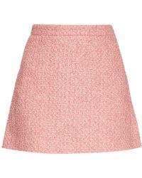 Gucci | Tweed A-line Mini Skirt | Lyst