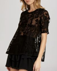 BCBGeneration Top - Lace Open Back - Lyst