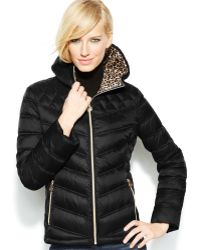 Michael Kors Michael Hooded Quilted Packable Puffer Jacket - Lyst