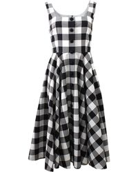 Dolce & Gabbana Checked Dress black - Lyst