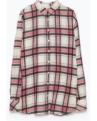 Zara Plaid Shirt - Lyst