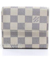 Louis Vuitton | Pre-owned Damier Azur Elise Wallet | Lyst