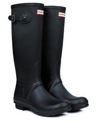 Hunter Original Ribbed Leg Wellington Boots - Lyst