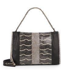 Ramy Brook - Harper Snake-Embossed Leather Shoulder Bag - Lyst