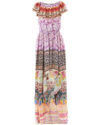 Camilla Embellished Decorative-print Silk Dress - Lyst