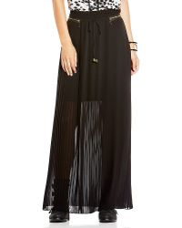 Vince Camuto Pleated Maxi Skirt - Lyst