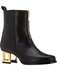 Maiyet Cutout-Heel Ankle Boots - Lyst