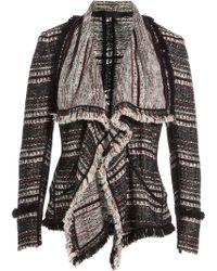 Donna Karan New York Cotton Blend Draped Blazer - Lyst