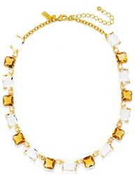Kate Spade New York Gold-plated Neutral Stone Collar Necklace - Lyst