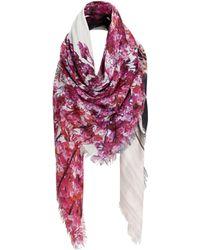 Mary Katrantzou Scarf Blossom purple - Lyst