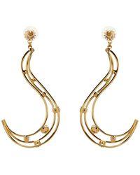 Vickisarge - Fallen Angel Crystal-Embellished Earrings - Lyst