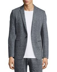 Theory - Sterling Heathered-knit Sport Coat & Pier Heathered-knit Sweatpants - Lyst