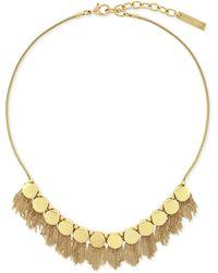 Vince Camuto - Gold-tone Fringe Disc Necklace - Lyst