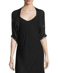 Donna Karan New York | Half-sleeve Embellished-cashmere Shrug | Lyst