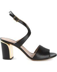 Chloé Black Beckie Sandals - Lyst