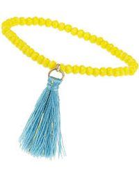 Topshop Bead And Tassel Drop Bracelet - Lyst