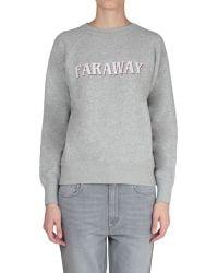 Etoile Isabel Marant East Cotton Sweatshirt With Faraway Print - Lyst