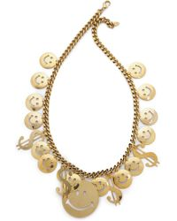 Erickson Beamon Have A Nice Day Necklace - Gold - Lyst