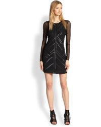 Parker Isabella Sequined & Embroidered Mesh Dress - Lyst