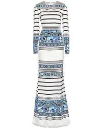 Emilio Pucci Floor-length Printed Silk Dress - Lyst