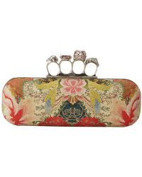 Alexander McQueen Skull-Knuckle Clutch Bag - Lyst