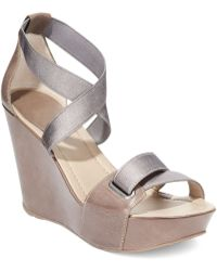 Kenneth Cole Reaction Womens Sole My Love Platform Wedge Sandals - Lyst