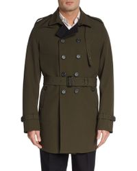 Burberry Prorsum Double-breasted Woolcotton Trenchcoat - Lyst
