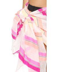 Lemlem Saali Gauze Pareo - Pink - Lyst