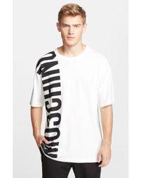 Moschino Men'S Vertical Logo T-Shirt - Lyst