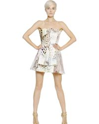 Blumarine Printed Silk Crepe De Chine Dress - Lyst