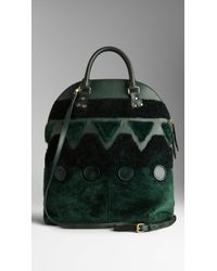 Burberry The Bloomsbury in Shearling Patchwork - Lyst