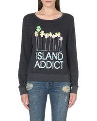 Wildfox Island Addict Sweatshirt Black - Lyst