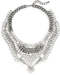 Cara Couture - Multi-row Statement Necklace/silvertone - Lyst