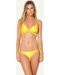 ViX Solid Yellow Middle Loop Top yellow - Lyst