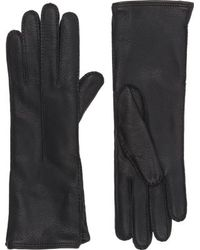 Barneys New York Gusseted Gloves black - Lyst